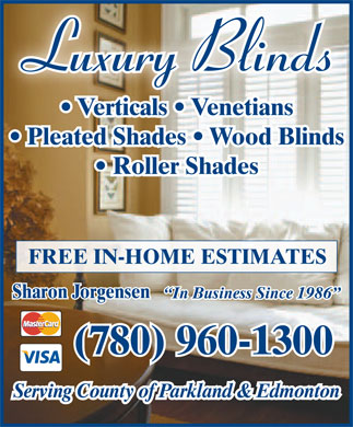 luxury blinds ad